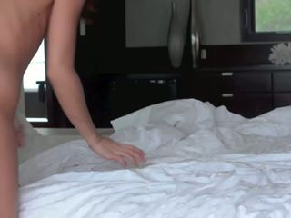 Teen strokes her bosy and gets hot