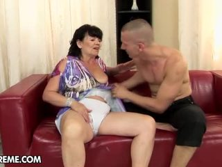 Hairy Old Whore HELena May Is Boned By A Stranger