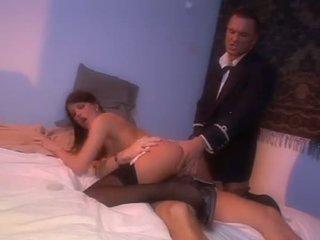 Sexy stewardess prefers hard double drillin