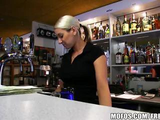 Super hot bar wench lenka is fucked hard for cash