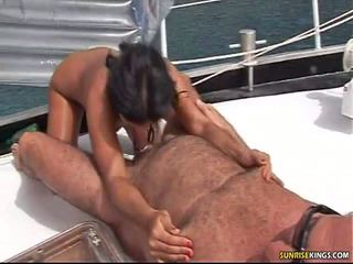 brunette, blow job, nice ass
