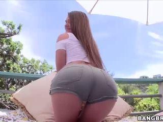 Damn hot Abby enjoys the hardcore sex