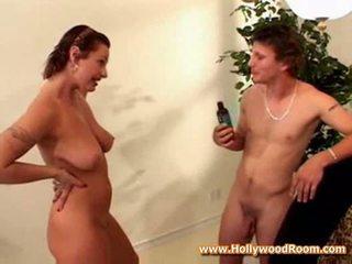 Nude model natural sexy tits blowjob