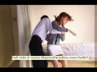 Akiho yoshizawa innocent κινέζικο κορίτσι gets μουνί licked