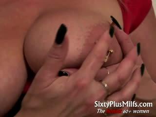 Big tits mature babe