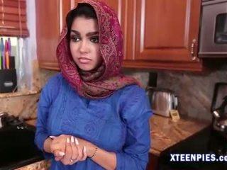 Sexy Arab utie Ada creampied by big cock after fucking