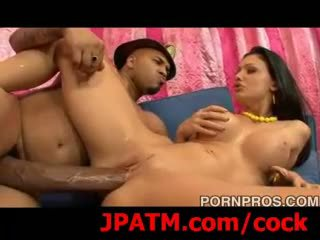 Hot foreign aletta inspects ogs 14 inch cock!