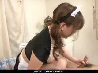 Nhật bản người giúp việc, aoi mizumori, pleases cô ấy chủ