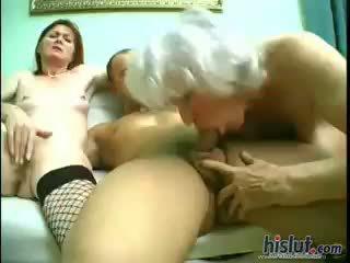 group sex, granny, redhead