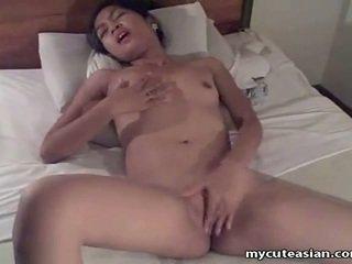 业余 亚洲人 青少年 gets 性交 近 向上