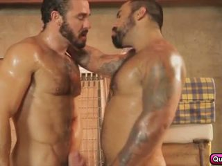 Two homo lovers fuck it out on their house