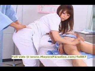 Akiho yoshizawa z idol69 niegrzeczne azjatyckie pielęgniarka likes do zrobić robienie loda