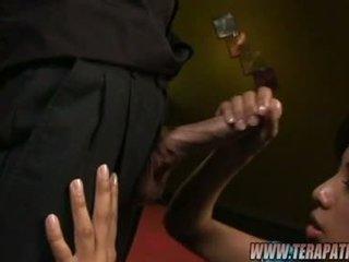 Asian Babe Nyomi Marcella Takes A Long Hard BaNana On Her Mouth