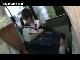 Japonsko šola bejbe dobili cumshots javno