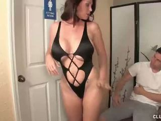 Angry step-mom jerking the young man