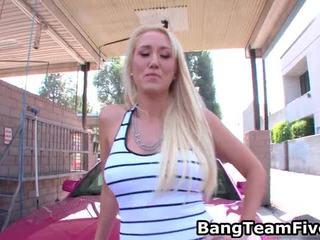 Blonde Alana Evans Receives Anal Comeback