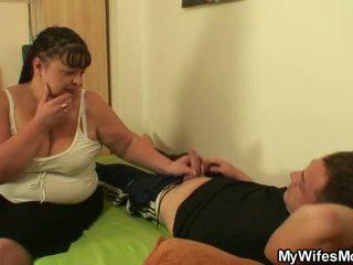 Trong khi của anh ấy vợ xa anh ấy nails cô ấy chất béo mẹ