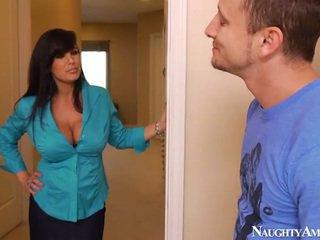 brunette, blowjob, big tits
