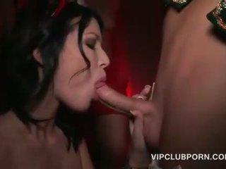 Božič seks zabava s potrebni sluts banged težko