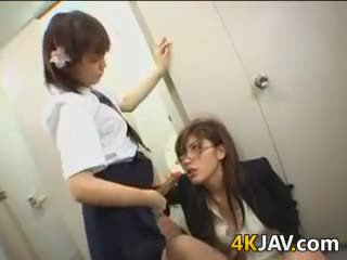 Asian Schoolgirl And Her Teacher