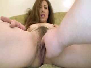 Hairy asian milf washes a guys dong