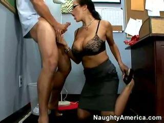 see glasses, big tits full, hq secretaries