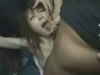 japonski, girl, groped, brutally