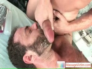 Dodge Wolf Acquires His First Homosexual Massage 6 By Massagevictim