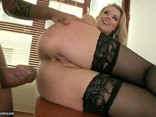 Hot Floozy Michelle Moist Bows Over And Gets Rammed By Black Cock Behind
