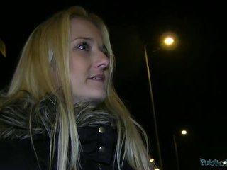 Blonde amateur Miriam swallows cumload
