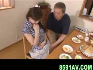 japanisch, mann, knebel, älter