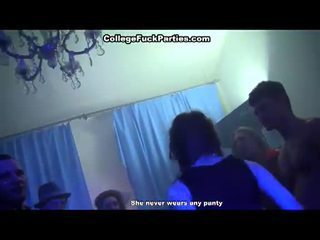 Horny college sluts are fucked in halloween party