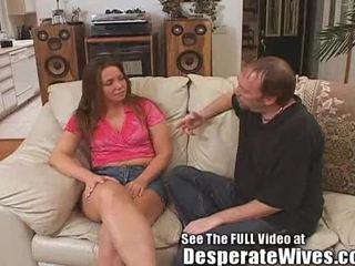 Desperate żona jazz swallowing nasienie