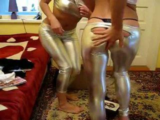2 الفتيات محاولة جديد لامع طماق