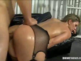 ร้อน ผู้หญิงสวย avy scott gets เธอ ตูด banged จาก หลัง และ takes spunk ไหล