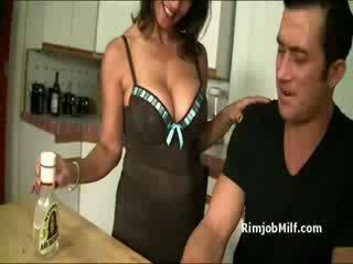 Big Assfucking mature whore licks guys asshole before Deepthroat