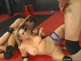 Angelic Busty Blonde Sluts Doing Blowjob And Getting Fucked Hard