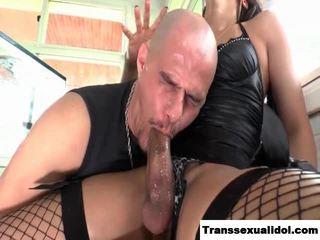 Big cock TS Bianca Hills gets a blowjob