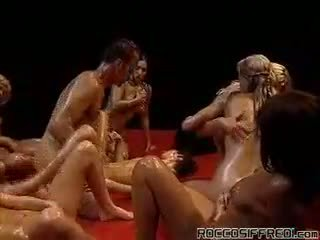 Amazing Reverse Gangbang With 10 Oily Women In Heat Here