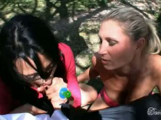 Devon Lee And Zoe Holloway Jack Off A Hard Dick