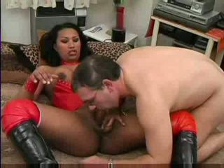Interracial hardcore after 69 pose sucking