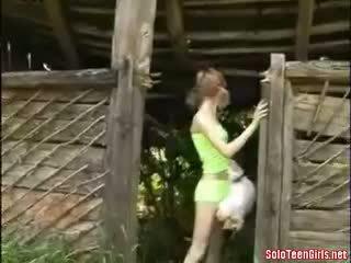 Farmgirl Finger Fucks Herself