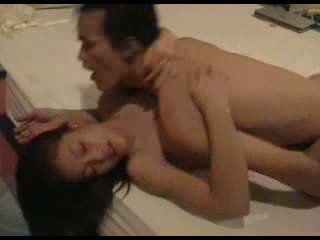Cute Asian beauty with sexy curves hotel action Video
