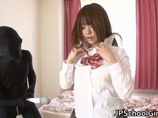 Horny Japanese School Whore Has The Morning