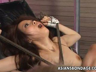 Asians pangawulan: tied up asia penetrated with kurang ajar machines