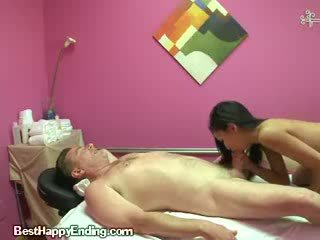 Asian Gives Handjob And Blowjob To Her Massage Client
