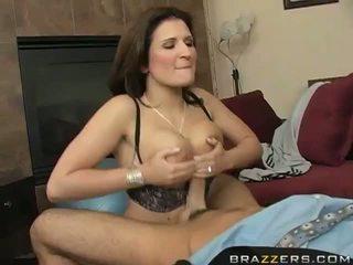 Big Titts Brunette MILF Austin Kincaid Couch Fucking Video