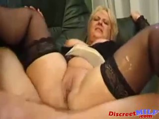 Mature French MILF Fucked Anal and Squirting Pussy