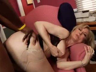 Nina Hartley ride a black cock Video