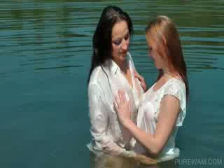 Dykes work wet bodies in the lake